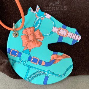 Hermes Tatersale Horse Pendant Necklace